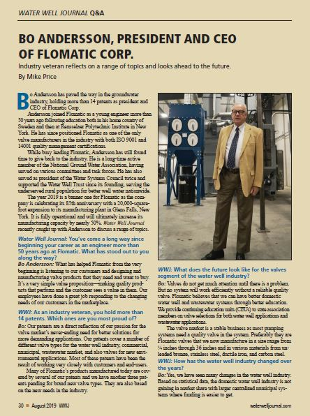 Water Well Journal Interview - Flomatic<sup>®</sup> Valves