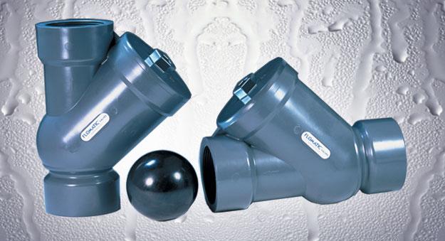 """GRAINGER APPROVED PVC CHK 426-8B8B-B Ball Cone Check Valve,PVC,1//2/"""",Barb"""