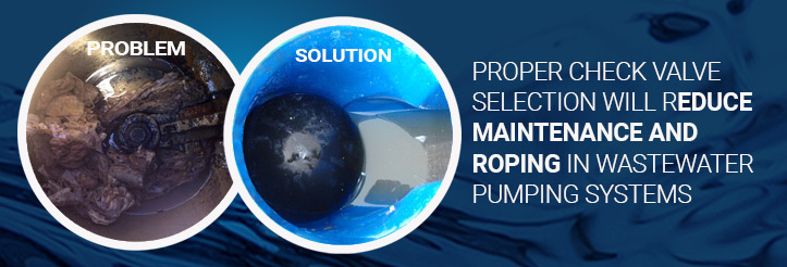 Proper Check Valve Selection Will Reduce Maintenance and Roping in Wastewater Pumping Systems