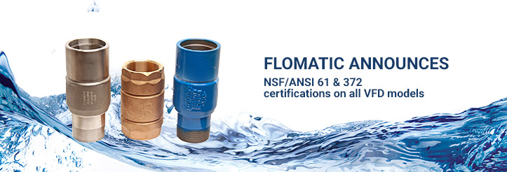 Flomatic announces NSF/ANSI 61 & 372 certifications on all VFD models