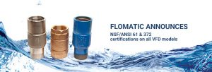 NSF/ANSI 61 and 372 certified VFD series check valves