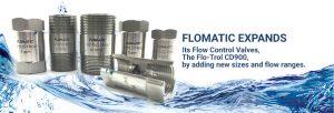 6 different sized flow control valves
