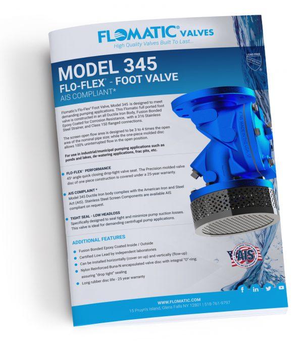 FloFlex Foot Valve 345 Literature